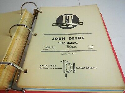 John Deere Parts Repair Manual Jd 53 3020 4000 4020 4320 4520 4620
