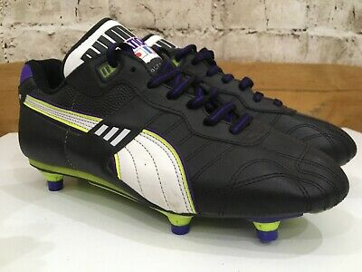 Vintage 1980s Puma International football Boots Uk 8 US 9 Eu43 Black Soccer King