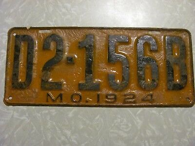 1924 MISSOURI DEALER LICENSE PLATE  FREE SHIPPING SEE MY OTHER PLATES