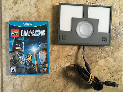LEGO DIMENSIONS PORTAL BASE NINTENDO WII U WITH GAME USED