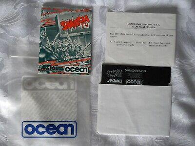 Smash TV Commodore C64 1990 Disk Game Aklaim Ocean (Manual+Disk Only)