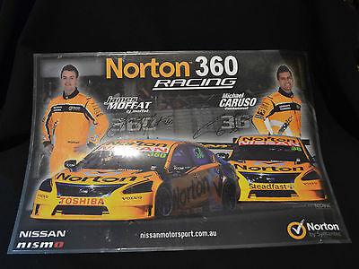 Norton 360 Racing Moffat   Caruso Laminated Poster