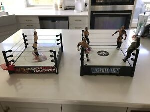 WWE WWF wrestling rings and action figures