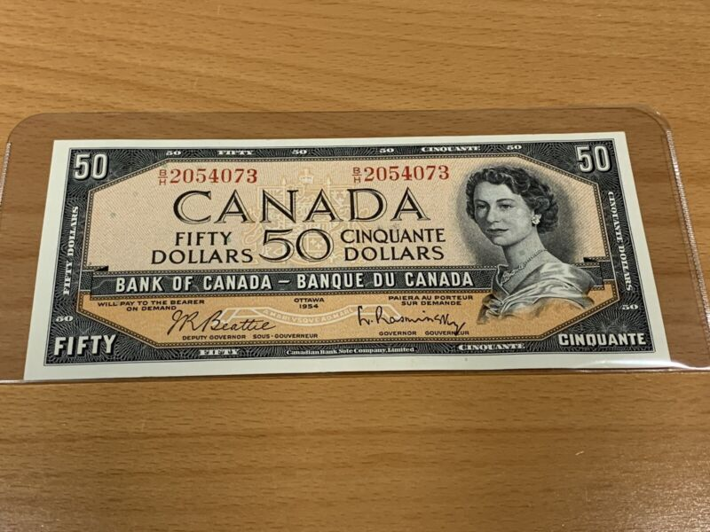 $50 bill Canadian banknote 1954