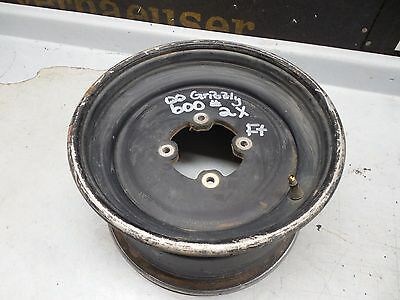 yamaha yfm600 grizzly 600 aluminum original black front rim wheel 2000 2001 OEM