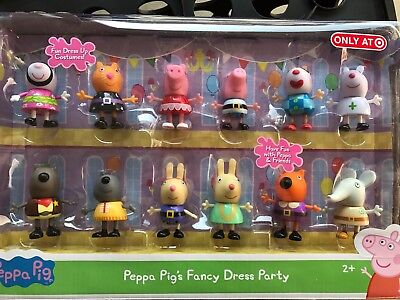PEPPA PIG'S FANCY DRESS PARTY EXCLUSIVE 12 FIGURE PACK Limited Edition Halloween