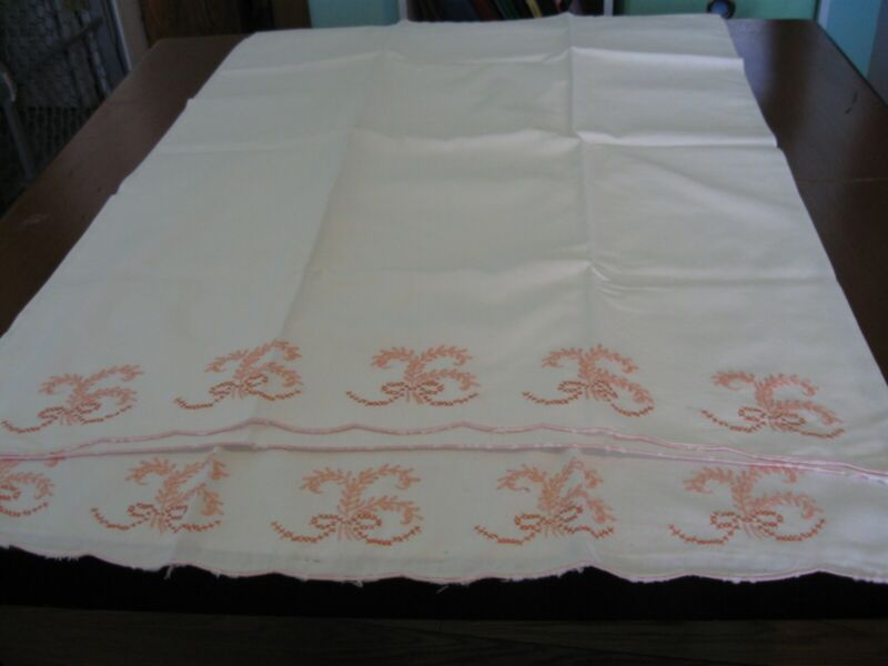 Set of Vintage Embroidered Pillowcases