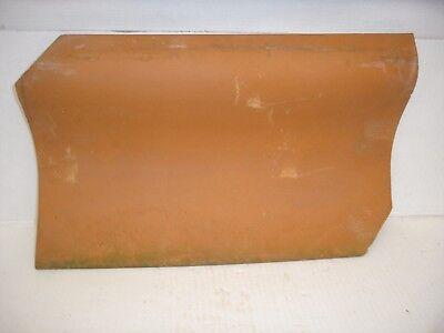 Ton Hohldachpfanne rot, 25x40,5 cm für Deko zum bemalen-Serviettentechnik dekori