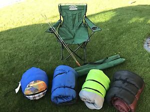 Lots of camping items/ sleeping bags for sale