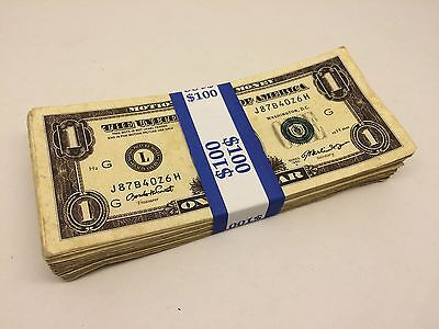 1/ Bundle of  Prop SINGLES /  AGED!!! / Realistic / MOVIE MONEY / 100 Bills
