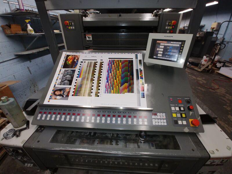 Komori Printing Press 429-P Spica,  20x29 42mil. Imp. (2008) 4C & 2/2 Perfecting