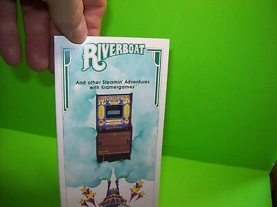 RIVERBOAT Video Poker Arcade FLYER Original NOS Promo Arcade Game KRAMER