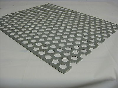 Perforated Aluminum Sheet .125 8 Ga. 12x 24 34 Hole 1 Stagger 3003 H14