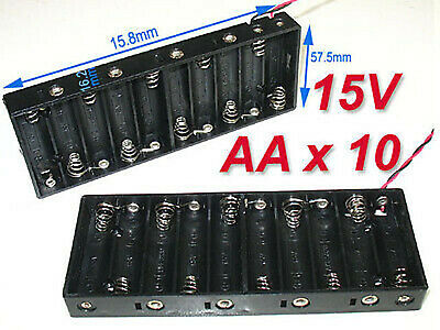 2pcs Battery Holder Box Case Wwire 10 X Aa 15v B