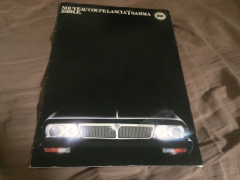 1970s Lancia Gamma 2500LE Coupe Brochure Catalog Prospekt
