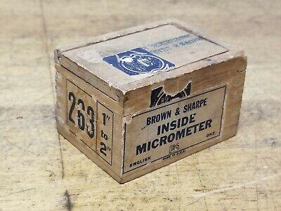 Brown Sharpe 1-2 Inside Micrometer No 263 With Original Box