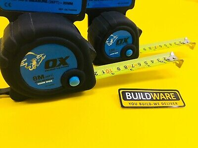 OX Trade Tape Measure 5 m (16 FT) / 8 m (26 FT)