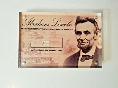 President Abraham Lincoln Signed Cut Handwriting, Handwritten Word-JSA LOA