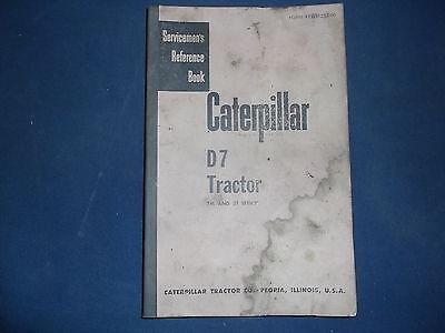 Cat Caterpillar D7 Crawler Tractor Dozer Service Shop Repair Book Manual 7m 3t