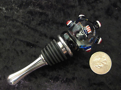 Deadhead Art Glass Wine Bottle Stopper uncle sam skull dead and company gift GD
