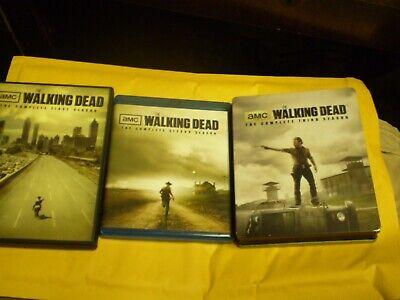 (3) The Walking Season Dead Blu-Ray/DVD Lot: Seasons 1, 2 & 3 (Steelbook) Horror](Halloween 2 3 Blu Ray)