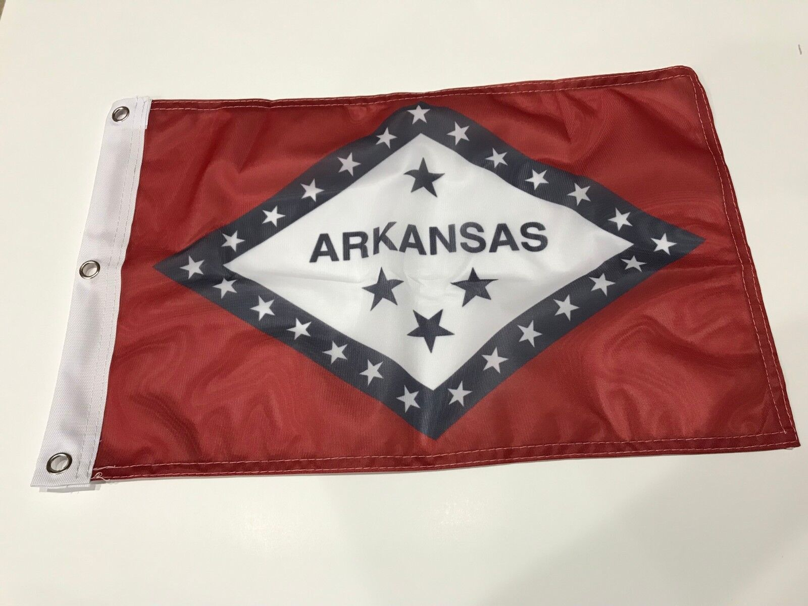 """12x18 12""""x18"""" State of Arkansas Super Polyester Flag Boat Ca"""