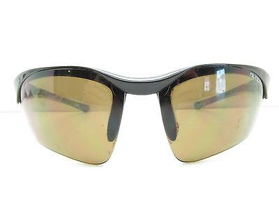SUNDOG Eyewear SEMI-RIMLESS SPORT SUNGLASSES wrap black used 76-17-123 TV6 90031