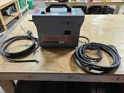 Used Hypertherm Powermax 350 Plasma Cutter Tool 070050 15 Ft Torch