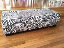 Zebra Print Ottoman / Bench Seat Auchenflower Brisbane North West Preview
