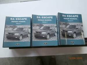 Ford Escape BA Genuine Repair Manual Tarago Goulburn City Preview