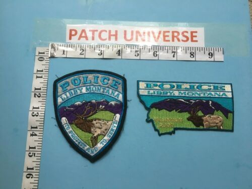 LOT OF 2 DIFFERENT  LIBBY MONTANA   SHOULDER PATCHES   A076