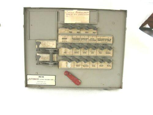 Vintage Automatic Voting Machine Instruction Model~AVM~Jamestown NY