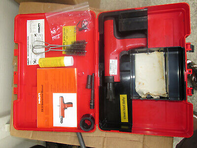 Hilti Dx35 Powder Actuated Nail Gun In Case And Lot Extras All New Kit  889