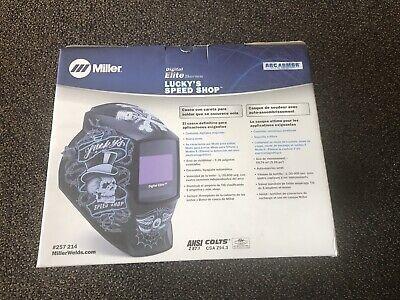 Miller Luckys Speed Shop Digital Elite Auto Darkening Welding Helmet