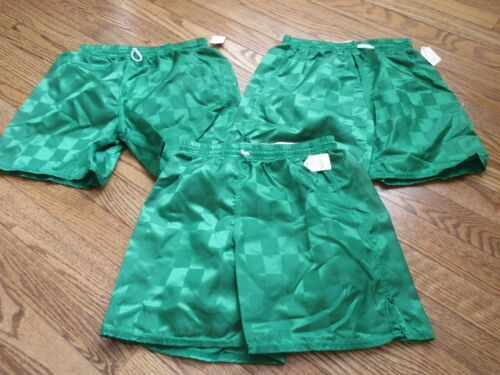 NEW lot of 3 Vintage BAKKA Youth Small YS Checkered Shorts Nylon 90s Soccer