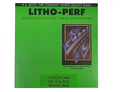 Hs Boyd Litho Perf 12 Tooth Card 10 Feet 805 Offset Rule On Press Scoring