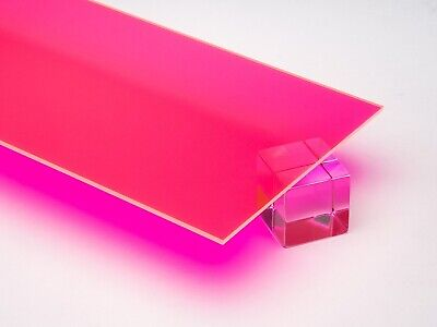 Acrylic Pinkred Fluorescent Plexiglass 18 X 12 X 24 Sheet 9093