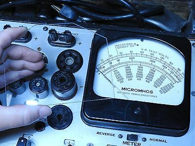 New Hickok 539bc Tube Tester Replacement Meter Glass