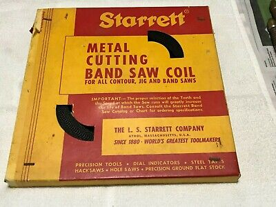 Starrett Metal Cutting Band Saw Coil 100 Ft. 8 Tpi. Reg.set New Cond.old Stock.
