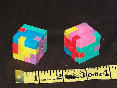 10 Cube Puzzle Eraser - Fun Pocket Money Toy - Birthday Gift Idea treat - Birthday Goody Bag Ideas