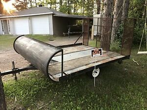 Snowmobile trailer.