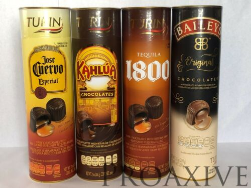 TURIN PREMIUM LIQUOR FILLED CHOCOLATES JOSE CUERVO KAHLUA TEQUILA 1800 BAILEYS