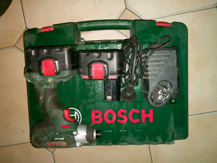 BOSCH CORDLESS IMPACT DRIVE with 2 BATTERIES CHARGER & CARRY CASE