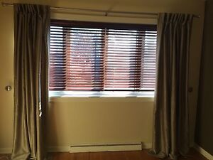 *******WOODEN BLINDS WITH SILK CURTAINS******