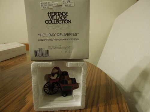 Department 56 Heritage Village accessory Holiday Delivery #56371  B3120