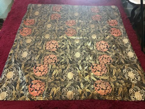 ANTIQUE EARLY 20th JAPANESE BROCADE SILK MATERIAL KESA EMBROIDERED CHINESE ROBE