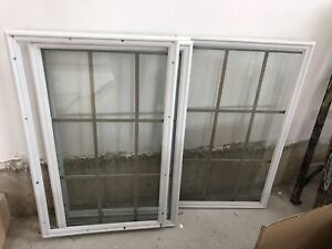 One Brand New Glass Door Inserts - Perfect Condition