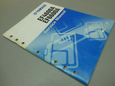 Oem Yamaha Ef4600 Ef6600 Generator Service Manual English Only Printed Nov 1998