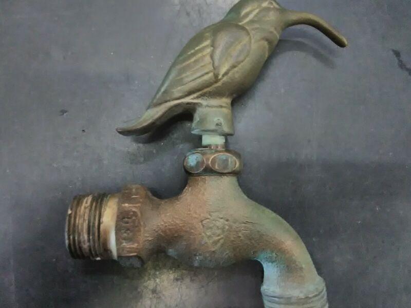 Vintage Brass Hummingbird Spigot