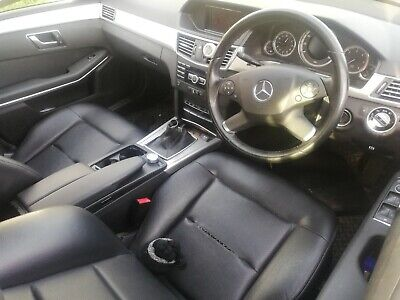2013 Mercedes W212 E220 Estate Black Leather Seats also include rear bench